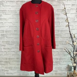 Anne Klein Collarless Wool Blend Lined Jacket 8
